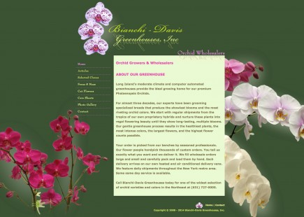 Bianchi-Davis Greenhouses Orchid Wholesalers