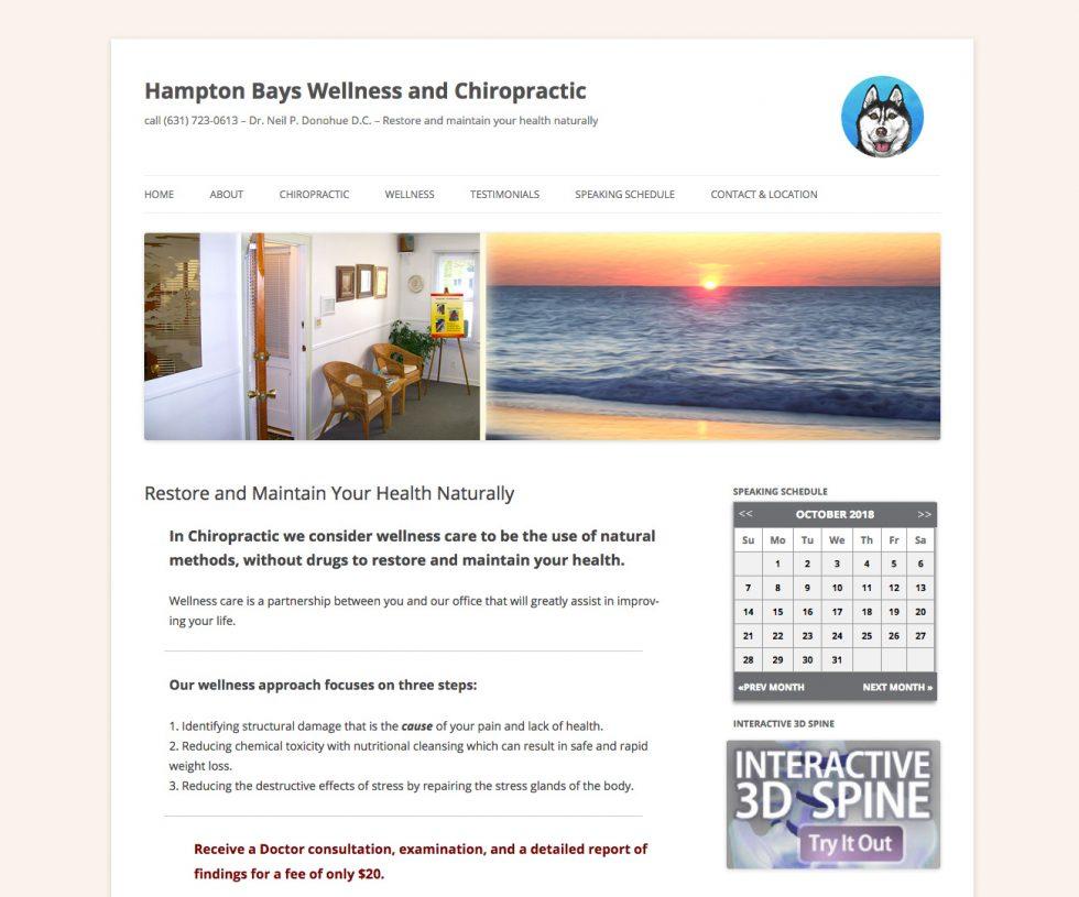 Hampton Bays Wellness | Chiropractic service