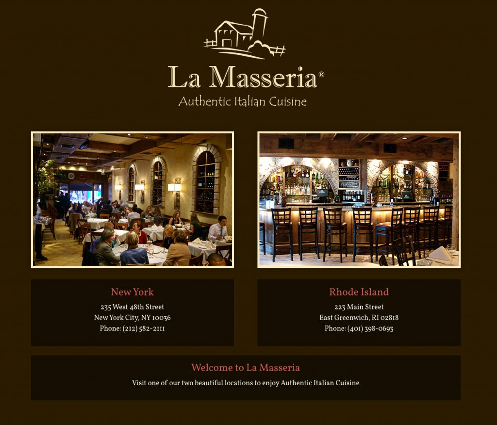 La Masseria New York City and Rhode Island