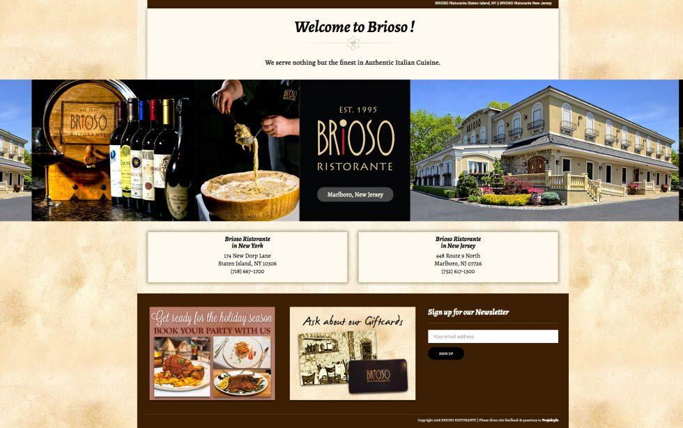 Brioso Ristorante in New York and New Jersey