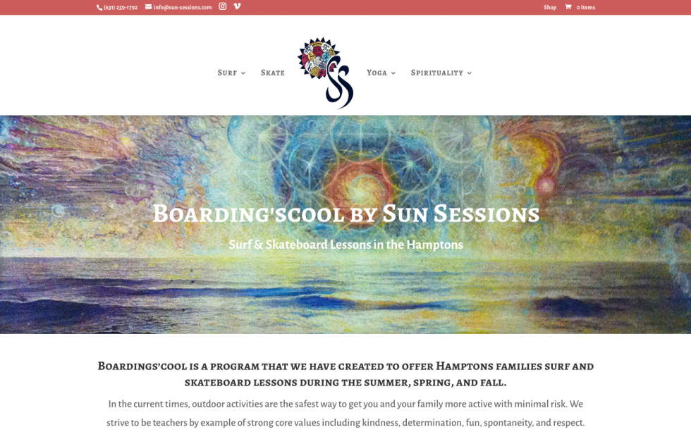 Sun sessions and Boarding' scool